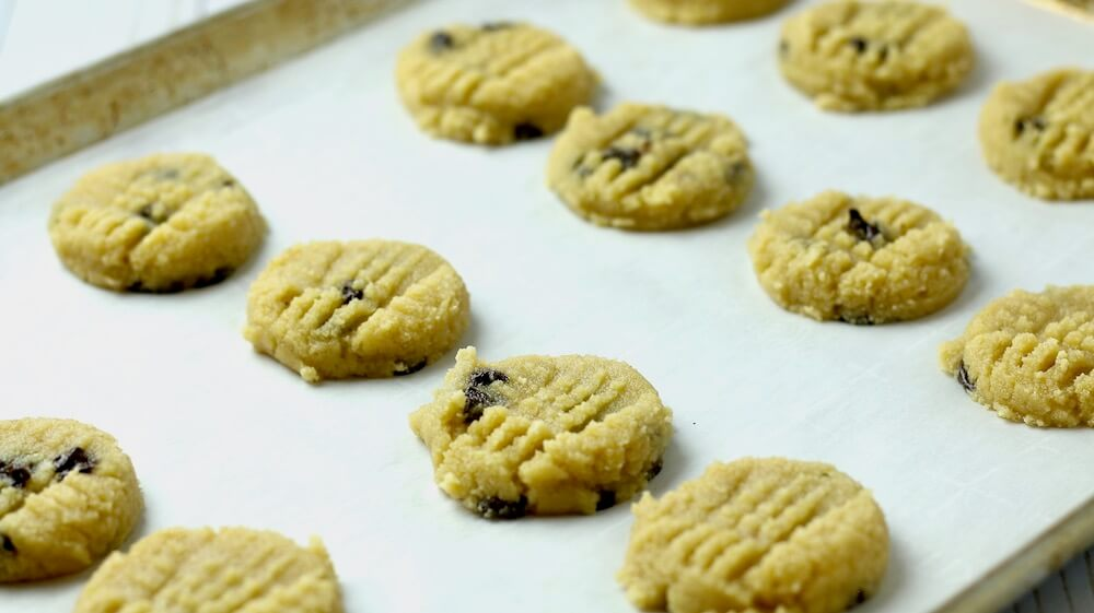Easy Keto Chocolate Chip Butter Cookies Smashed