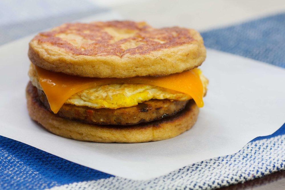 Keto Breakfast Recipes - Keto Sausage McGriddles