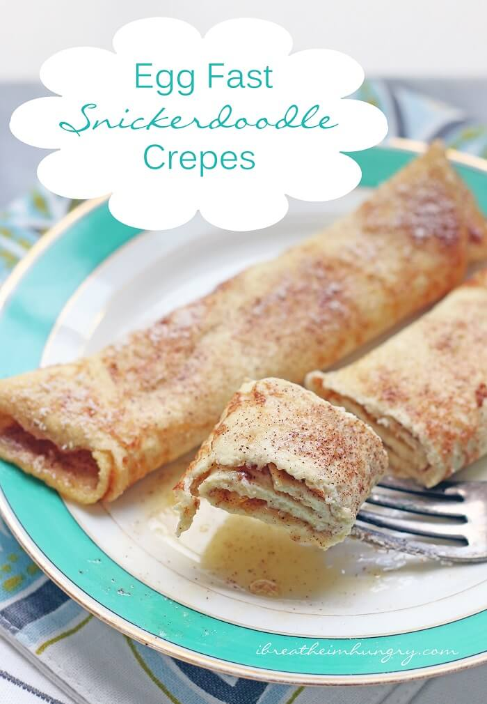 Keto Egg Fast Snickerdoodle Crepes