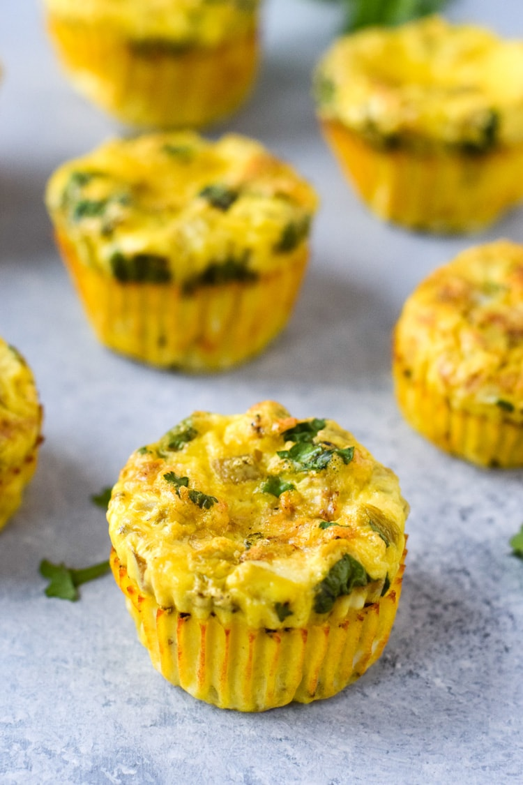 Chicken And Green Chile Egg Muffins