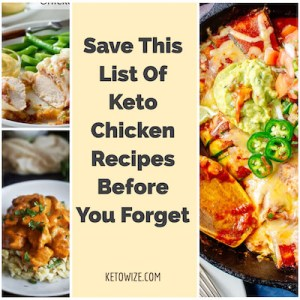 Keto Chicken Recipes Collage Featured
