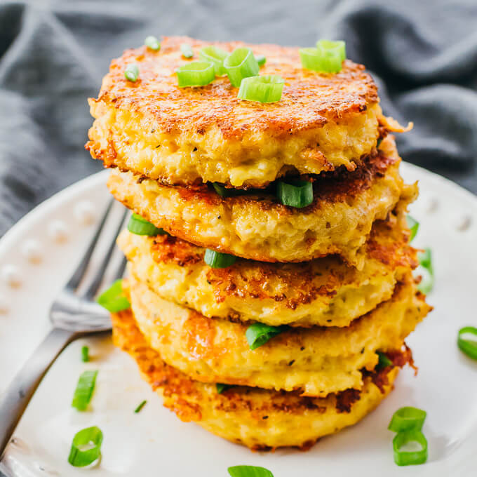 Cauliflower Fritters (Like Hash Browns!)