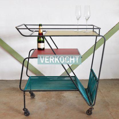 KETSCH VINTAGE bar cart serveerwagen
