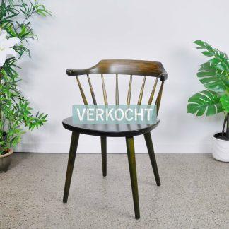 Vintage Spijlenstoel Yngve Ekstrom