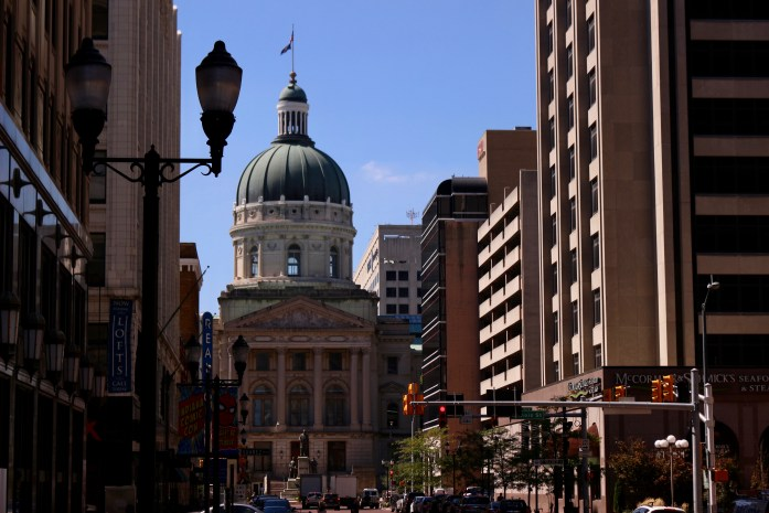 Looking toward the Indiana capitol building in Indianapolis – the most American city in the US. ©KettiWilhelm2019