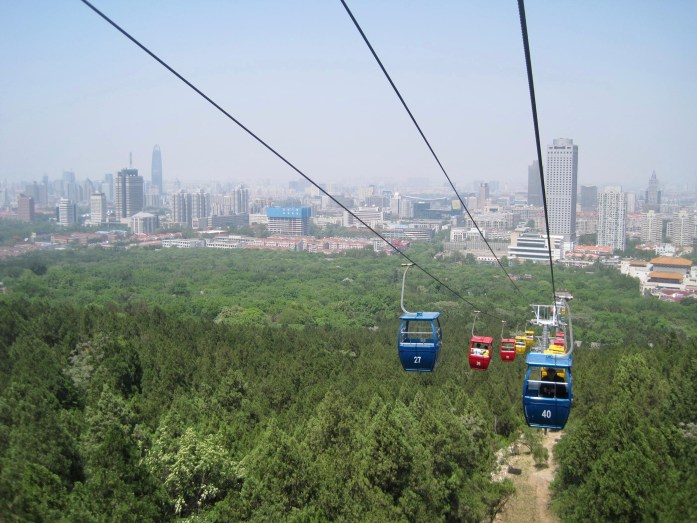 The city of Jinan, China, seen from a gondola with less air pollution than usual (a decent air quality day). ©KettiWilhelm2015