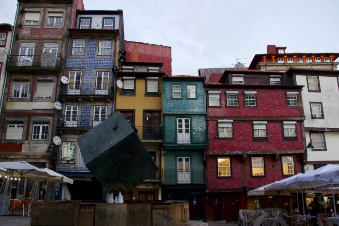 Colorfully tiled houses in Porto's central Ribeira Square. I stayed in a reasonably priced guesthouse near here instead of Couchsurfing. ©KettiWilhelm2020