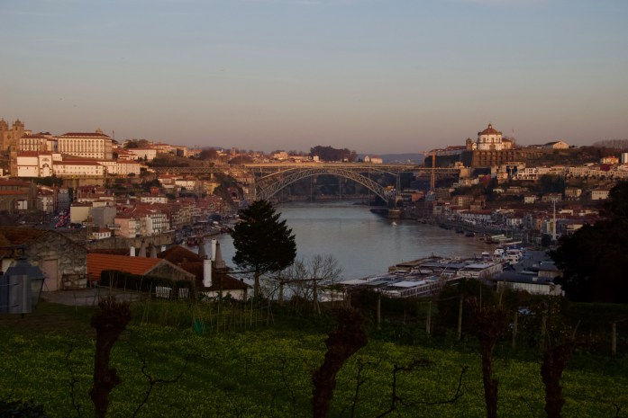 A sunset view of the towns of Porto and Gaia from Graham's Port Lodge. ©KettiWilhelm2020