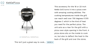 Top Weber Kettle Accessory - KettlePizza