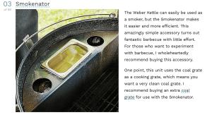 Top Weber Kettle Accessory - Smokenator