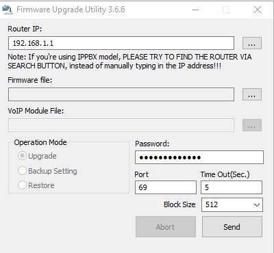 draytek 2820 firmware
