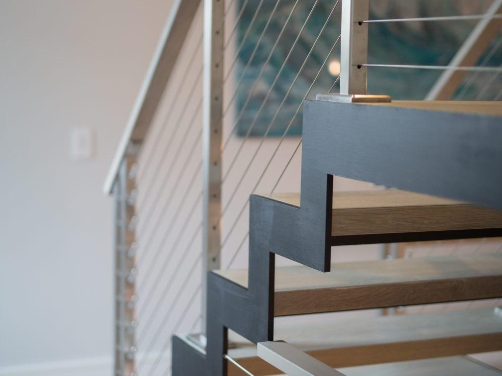 Floating Stairs Ideas 10 Custom Designs Keuka Studios | Steel Stair Stringer Design | Structural | Simple | Step | Free Standing | 3 4 Wood Stringer