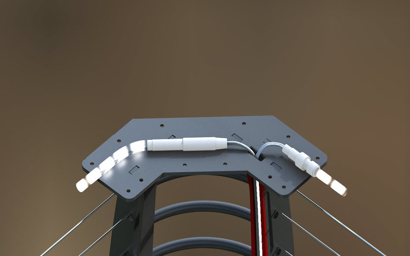 led lighted railings and stairs keuka