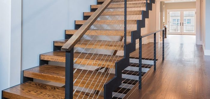 6 Types Of Stair Treads What To Know Before Choosing Various | Wood Grain Tile On Stairs | Natural Wood | Contemporary | Basement | Upstairs | Subway Tile