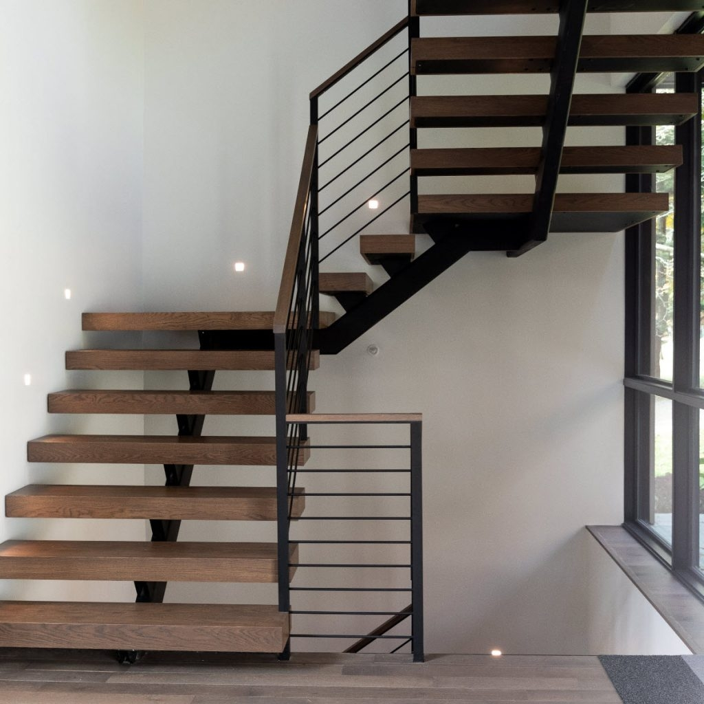 How Much Do Custom Floating Stairs Cost Keuka Studios | Cost Of Outdoor Stairs | Handrail | Staircase | Concrete Steps | Stair Treads | Spiral Staircase