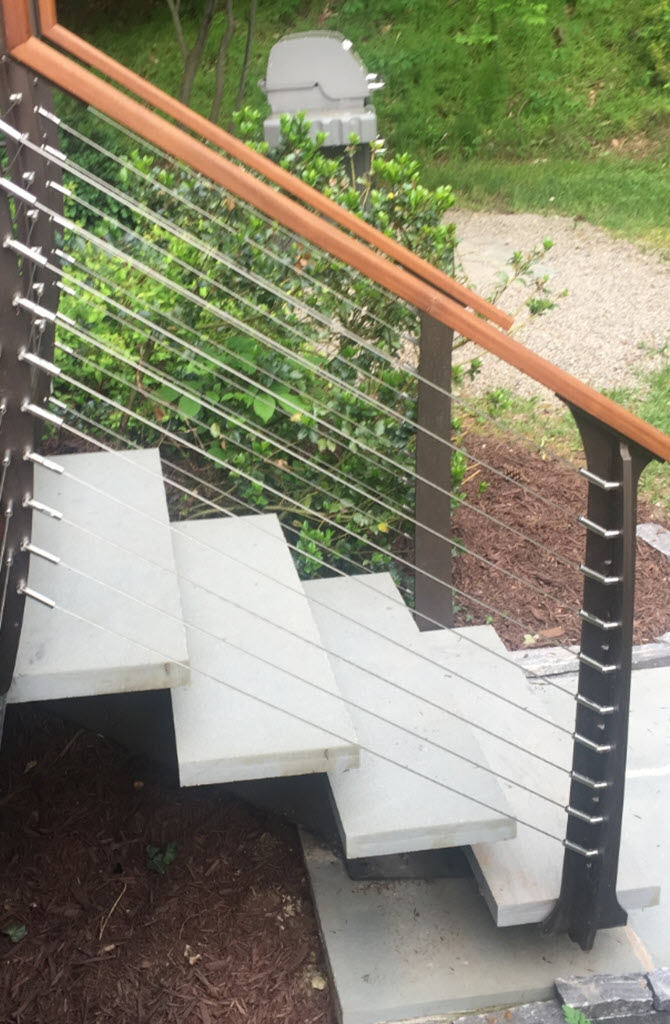 6 Types Of Stair Treads What To Know Before Choosing Various   Outdoor Railings For Stone Steps   Screen Porch   Modern Outdoor   Backyard   Stone Patio   Fancy