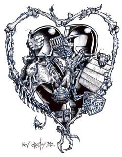 2000AD_ink_Dredd kisses death