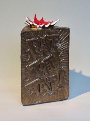 Rat-Tat-Tat! Vase by Kevin Eaton