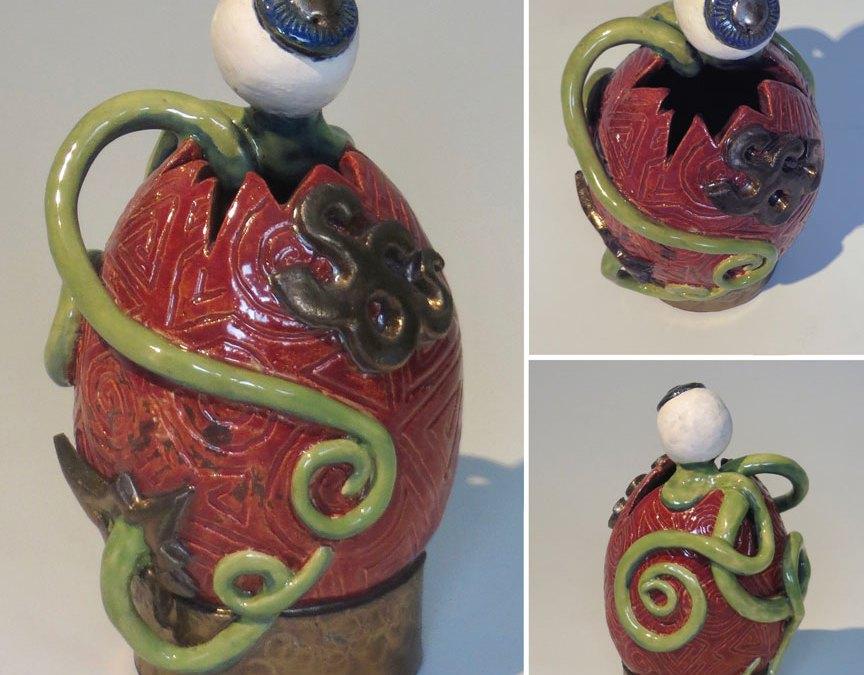 Alien Egg Vase Selected For The Egg Show