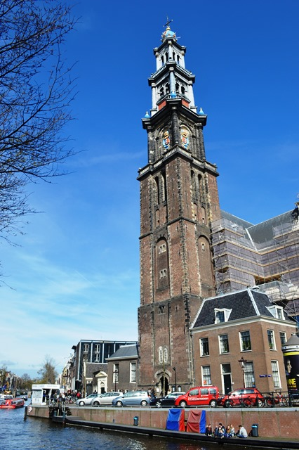 Igreja Westerkerk no bairro Jordan