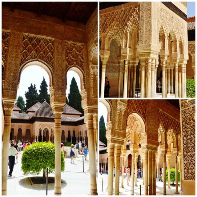 Patio do Palacio de los Leones em Alhambra