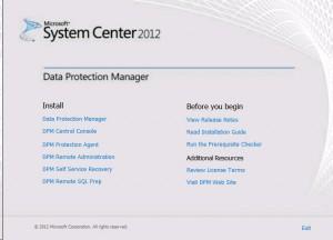 DPM Install Screen