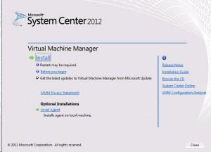 System Center VMM 2012 - Setup