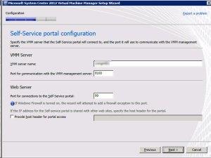 System Center VMM 2012 - Portal
