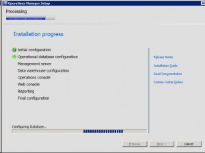 System Center Operations Manager 2012 - Progress