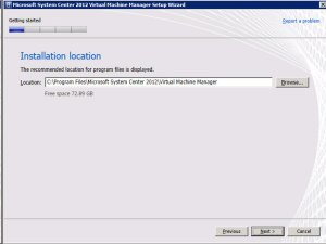 System Center VMM 2012 - Location