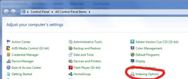 Windows 7 - Control Panel