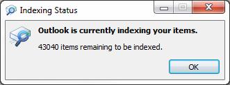 Windows 7 - Index Status