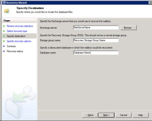 System Center Data Protection Manager 2012 - Specify Destination