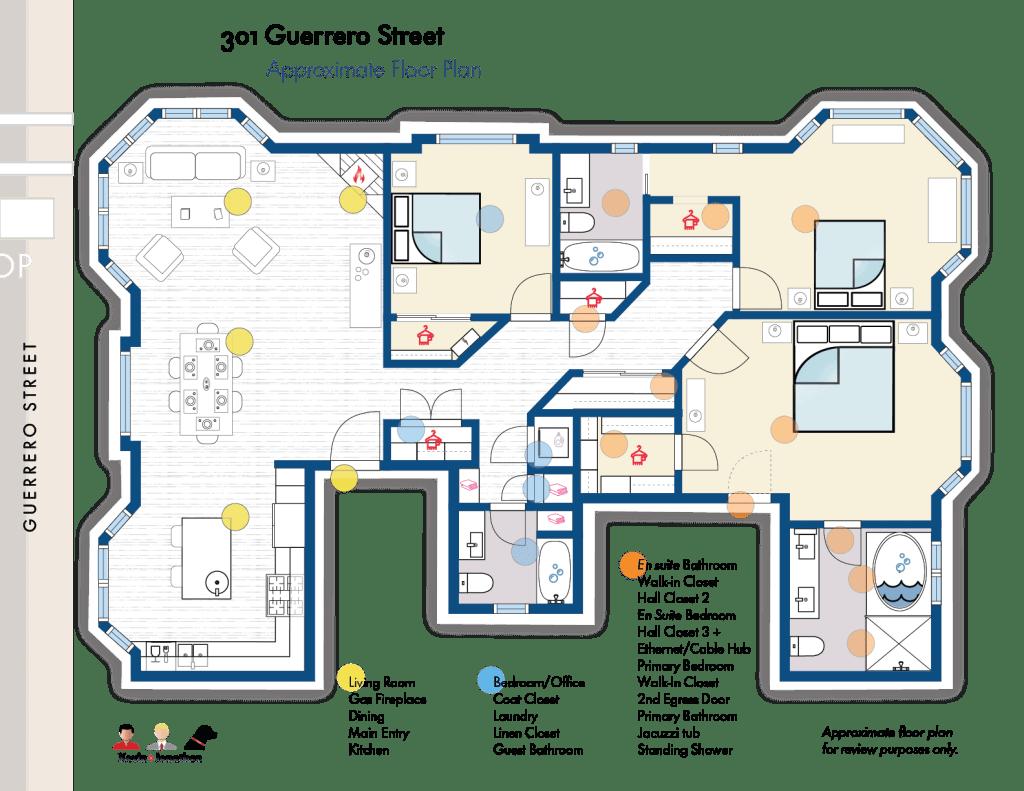 301 Guerrero Street's Layout