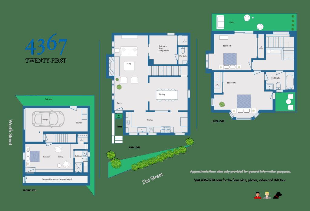 4367 21st Street Floor Plan