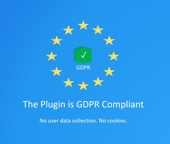 This plugin is GDPR Compliant
