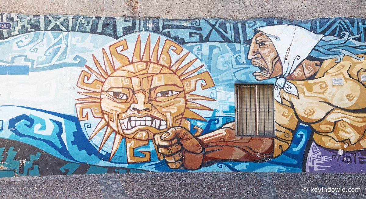 Wall mural, La Boca.