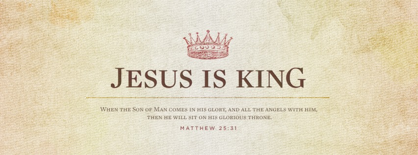 Christian Facebook Cover Photos with Bible Verses Jesus is King