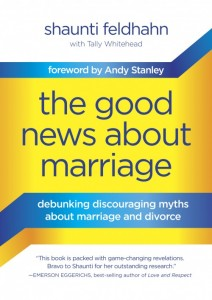 Book Cover and Review the Good News About Marriage by Shaunti Feldhahn