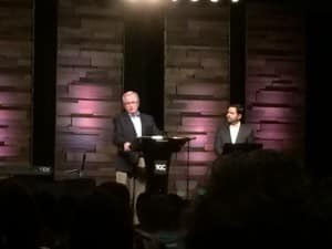 D.A. Carson speaking on the sufficency of Scripture from Psalm 1 at the pre-conference.