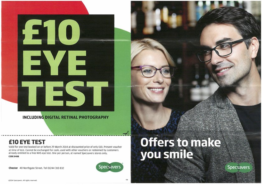 Specsavers: offers to make you smile