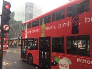 Coca Cola London bus