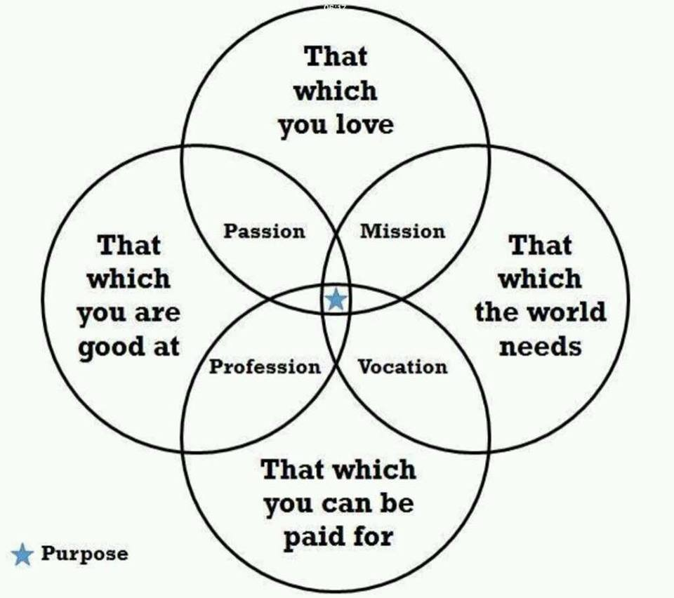 Purpose in a Venn diagram