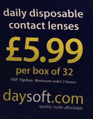 Your disposable lenses will cost you a lot more than £5.99.
