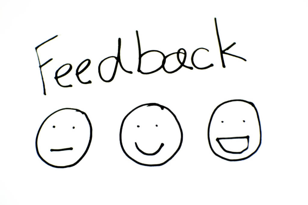 There is no point asking for feedback…