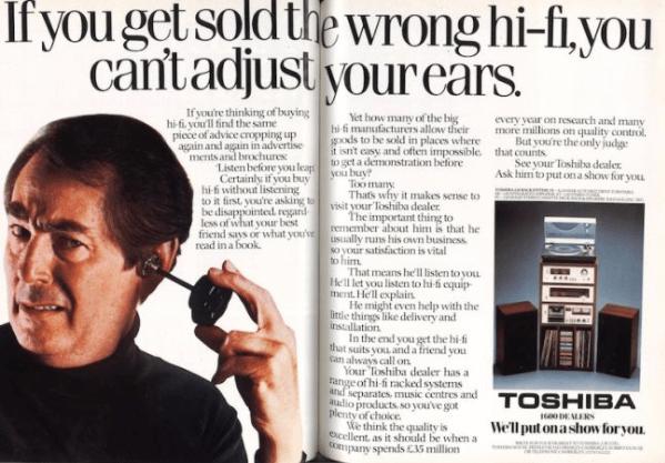 Toshiba hifi stack advert c1978