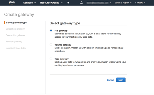 Configuring AWS S3 Storage Gateway for Uploading Files to S3