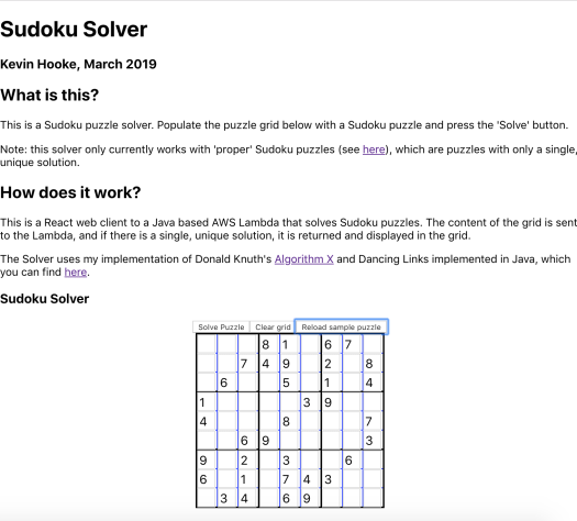 Building a React Front-End for my AWS Lambda Sudoku Solver - DZone Cloud