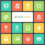 Free Collection of 38 Beautiful Web Icons