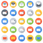 A Stylish Free Email Icon Vector Set